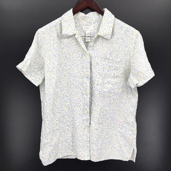 Vintage liz claiborne LizSport Linen Shirt floral